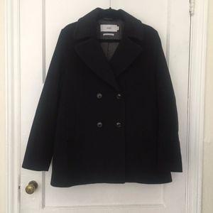 Closed Jackets & Coats - CLOSED virgin wool cashmere black Jessa pea coat